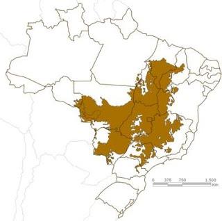 mapa do cerrado brasileiro