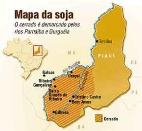 mapa do agronegocio no cerrado piaui